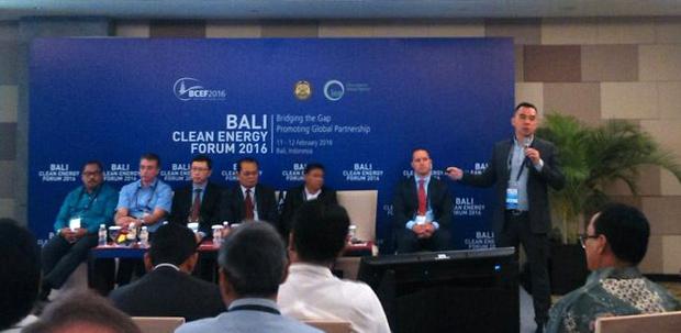 SPEAKING AT BALI CLEAN ENERGY FORUM